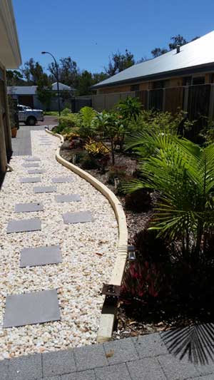 garden edging pathways dunsborough busselton margaret river bunbury downsouth landscaping